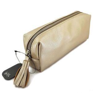 Kosmetická taška obdélník ( penál světle zlatý )