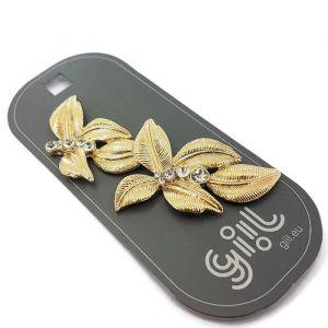 Listová brož s kamínky GIIL