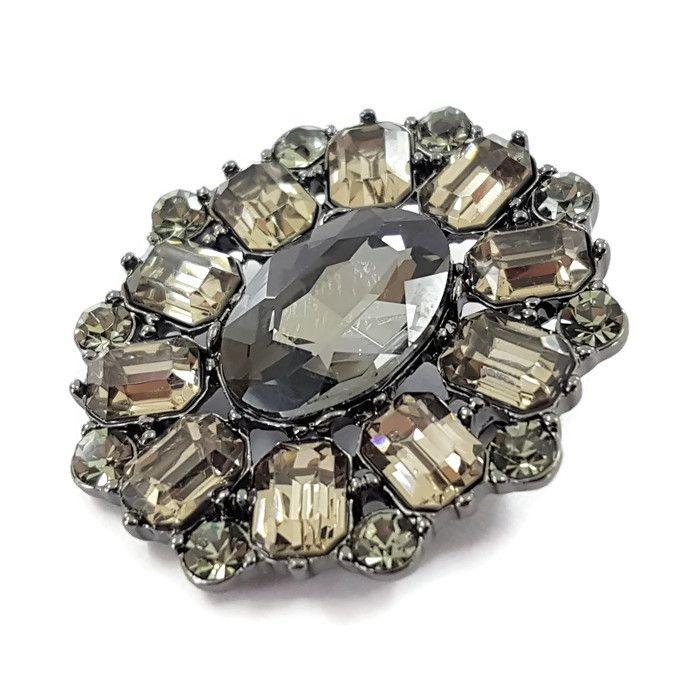 Luxusní kamínková brož