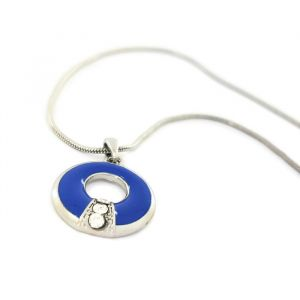 Náhrdelník s modrým kruhem