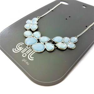 Náhrdelník s modrými kamínky do tvaru kapek GIIL