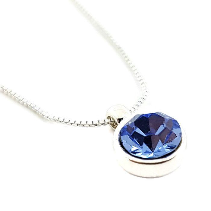 Náhrdelník se světle modrým kamínkem GIIL