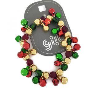 Rolničkový náramek ve vánočních barvách GIIL