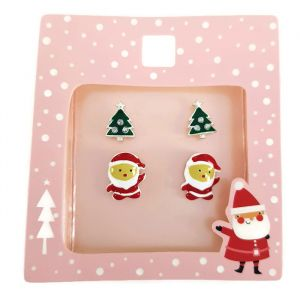 Sada bodových náušnic s vánočními motivy
