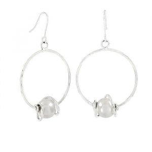 Náušnice kruhy s perlou