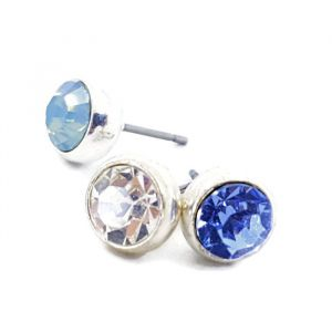 Náušnice pecky s modrými kamínky