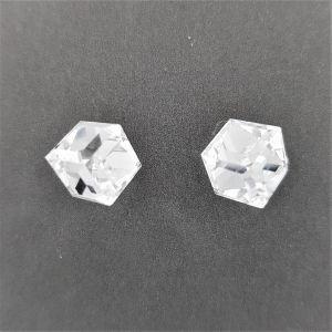 Náušnice s krystalovou kostkou GIIL