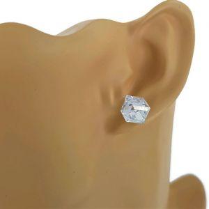 Náušnice s krystalovou kostkou
