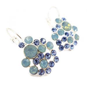 Náušnice s ledově modrými kamínky