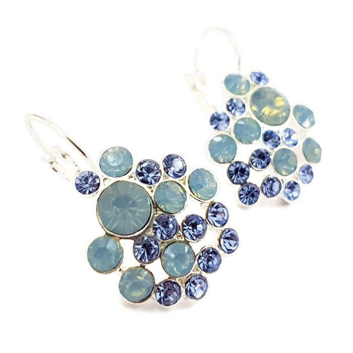Náušnice s ledově modrými kamínky GIIL