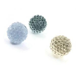 Náušnice s modrými kamínkovými kuličkami