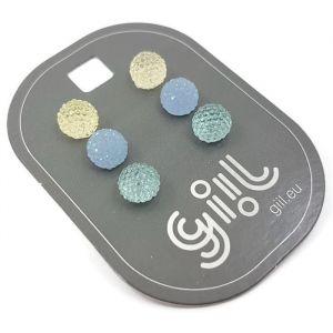 Náušnice s modrými kamínkovými kuličkami GIIL