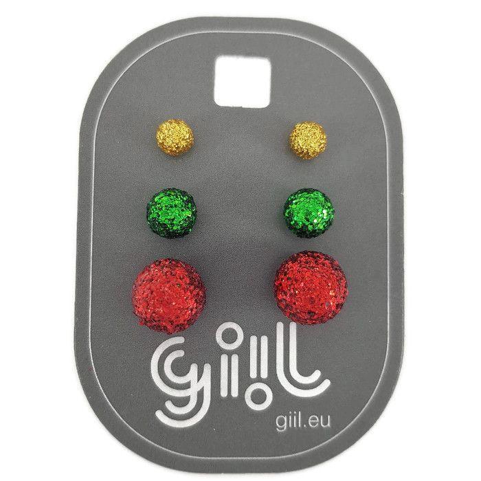 Sada náušnic ve vánočních barvách GIIL