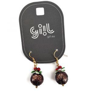 Náušnice vánoční kouličky GIIL