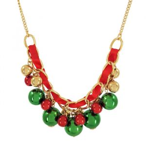 Výrazný náhrdelník se symboly Vánoc