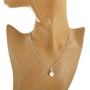 Řetízkový náhrdelník s perlou 1