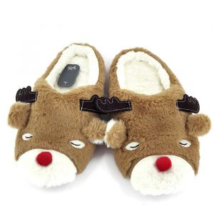 Vánoční pantofle se soby 134149