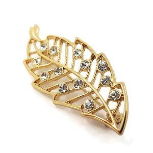 Zlatá brož ve tvaru listu