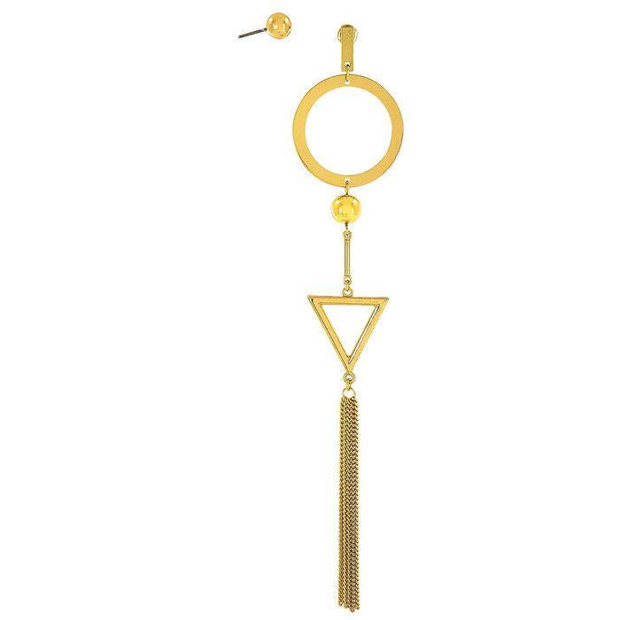 Zlaté extravagantní náušnice houpací a perlička GIIL