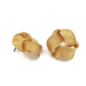 Zlaté náušnice uzlíky