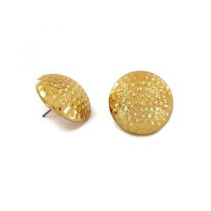 Zlaté peckové náušnice bochánky