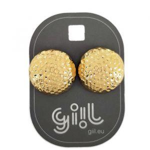 Zlaté peckové náušnice bochánky GIIL