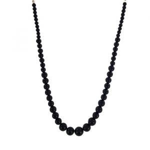 Černé velké perly náhrdelník