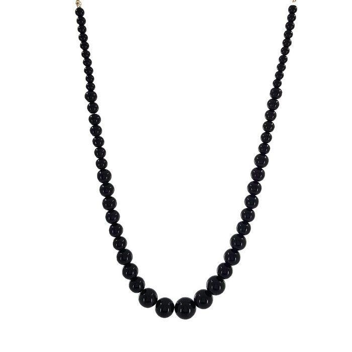 Černé velké perly náhrdelník GIIL