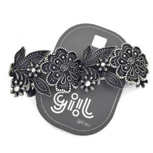 Černý masivní luxusní náramek na gumičku GIIL