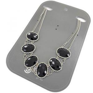 Černý masivní náhrdelník s kameny GIIL