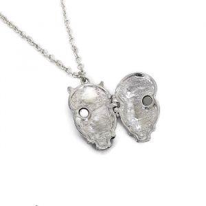 Černý náhrdelník se sovičkou medailonkem GIIL