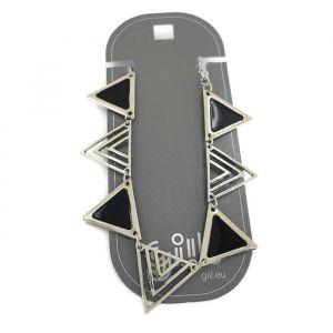 Černý řetízkový náramek z pyramid GIIL