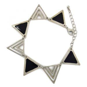 Černý řetízkový náramek z pyramid