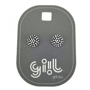 Peckové náušnice malé placičky s kamínky GIIL