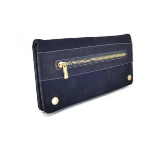 Černá peněženka v kombinaci kůže - semiš