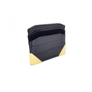 Černé pouzdro na bankovky a karty