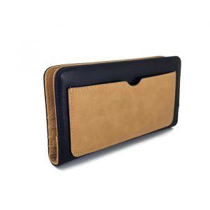 Elegantní černo-hnědá velká dámská peněženka