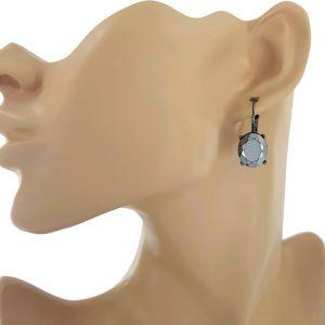 Sada náušnic (visací a peckové) perličky a diamant GIIL