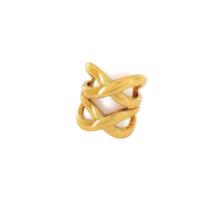 Velký zlatý prsten překřížený GIIL