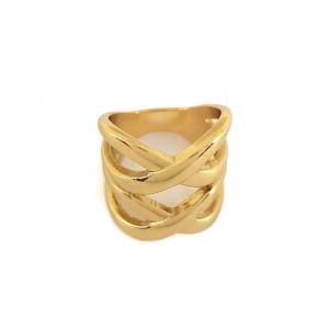 Velký zlatý prsten překřížený