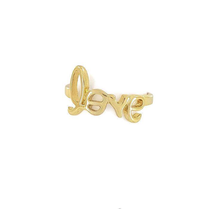 Zlatý minimalistický prstýnek LOVE GIIL