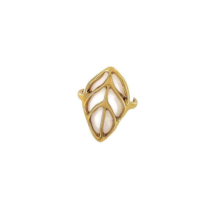 Zlatý prsten do tvaru listu GIIL