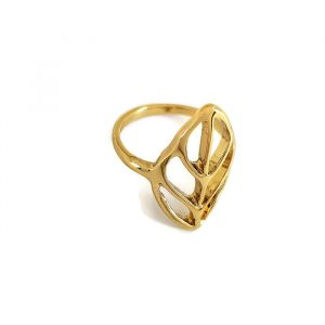 Zlatý prsten do tvaru listu