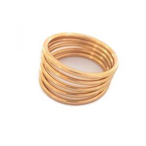 Zlatý prsten složen z 5ti obrouček