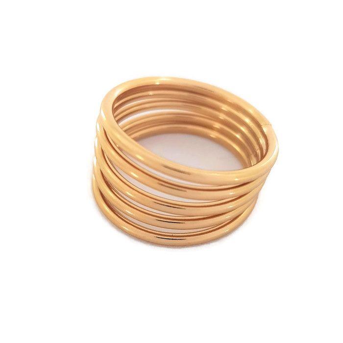 Zlatý prsten složen z 5ti obrouček GIIL