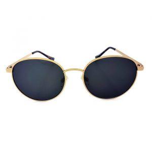 Dámské sluneční brýle kulatého tvaru a se zlatými doplňky GIIL