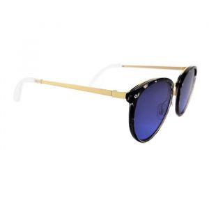 Dámské sluneční brýle s krásně modrými skly a zlatým pokovením