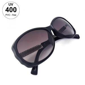 Dámské sluneční brýle černé barvy a stříbrnými stranicemi GIIL