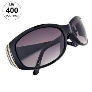 Masivní plastové dámské sluneční brýle černé barvy