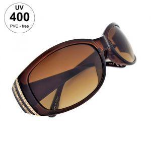 Plastové dámské sluneční brýle hnědé barvy